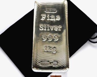 2018 Albion® 1 kilogram Sheffield Hallmarked Silver Bullion Bar