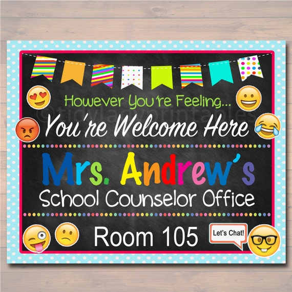Well known School Counselor Door Sign Child Counselor Door Sign Back to CR73