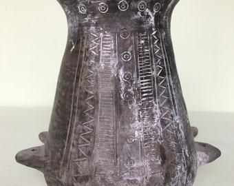 Reproduction of ancient vase nuragic civilization of clay(Sardinia).