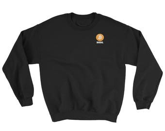 HODL Bitcoin Crewneck Sweatshirt (Unisex) | bitcoin, litecoin, ethereum, cryptocurrency, internet, buy, money, btc, crypto, hold, hodl