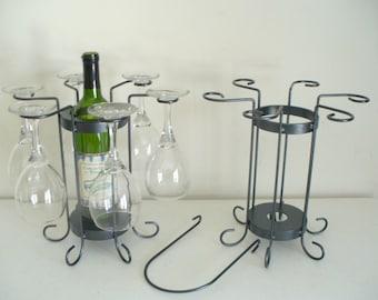 6-Glass tabletop wine holder