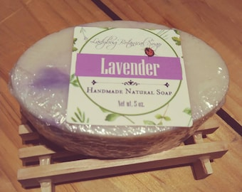 Lavender Soap made with Goat's milk and Cocoa butter.