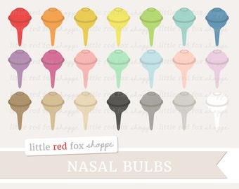 Nasal Bulb Clipart, Nasal Aspirator Clip Art Baby Shower New Baby Infant Baby Gear Tool Cute Digital Graphic Design Small Commercial Use