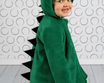 Dinosaur Coat, Boys or Girls Fleece or Wool Winter Coat, Childrens Jacket, Lightweight Spring Jacket, Fall Coat, Wild & Woolly