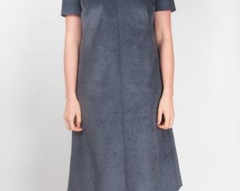 Grey Cord Tunic Dress