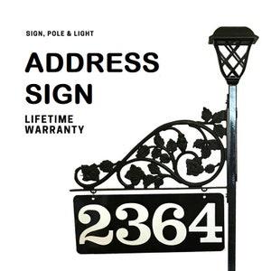 yard address sign etsy