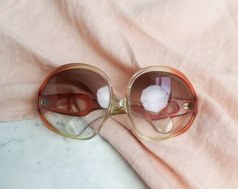 Two tone 70s sunglasses | Womens 70s sunnies | 70s shades | Oversized large sunglasses