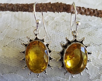 Citrine Sterling Earrings