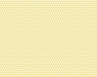 CLOSEOUT SALE Oh Boy Yellow Triangles by Riley Blake 1 Yard