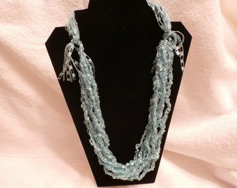 Hand Crocheted Trellis Necklace #20