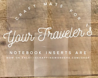 Craft Mat for Traveler's Notebook Inserts - TN Accessory-Midori Accessory - Art Journal Accessory- Plastic Craft Mat- Various Sizes