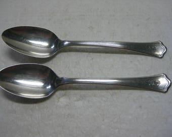 2 Teaspoons WASHINGTON Wallace Sterling Silver Flatware