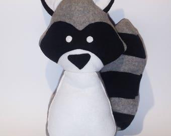 material mascots raccoon, bandit, animal, handmade, gift