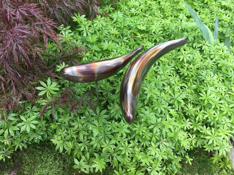 Koi Sculpture stainless steel Garden Fish handmade welded