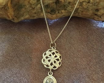 Celtic Silver pendant with Cubic Zirconia