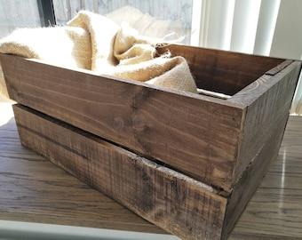 Rustic wooden crate, freestanding shelf, stackable shelf, storage unit - Melbourne