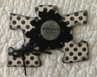 Puzzle Piece and Tags Embellishment Kit