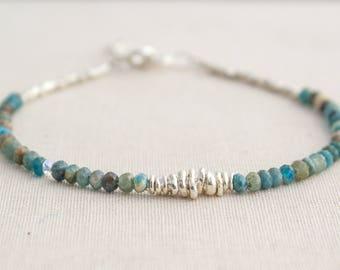Sterling Silver Apatite Bracelet