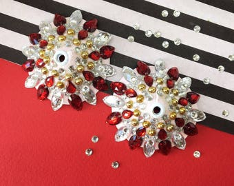 Red, Gold and Crystal Pasties
