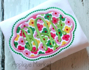 Machine Embroidery Design Applique Scallop Oval Beaded INSTANT DOWNLOAD