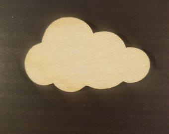 50 Laser Cut Clouds - Wood Clouds - Crafting Supplies