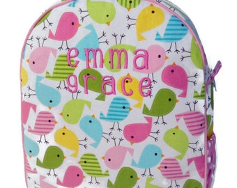 Personalized Toddler Backpack, Girls Backpack, Preschool Backpack, Quilted Backpack, Pink Backpack, Book Bag, Tote Bag, Diaper Bag