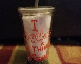 Disney Lover Tumbler Cup