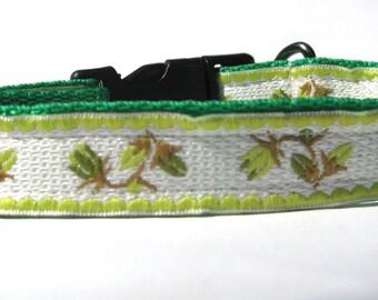Green dog collar,olive green dog collar,gil dog collar,bo dog collar, unisex dog collar,dog collar,small dog collar