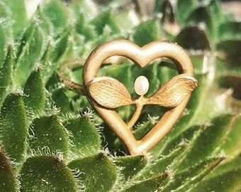 Antique Mistletoe Conversion Ring