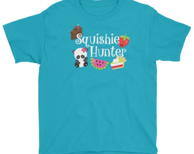Squishie Hunter t-shirt for kids who love squishies