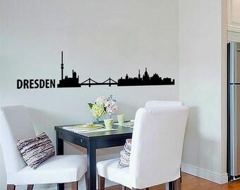 Dresden Skyline Wall Decal Cute Vinyl Sticker Home Arts Europe City Wall Decals WT097