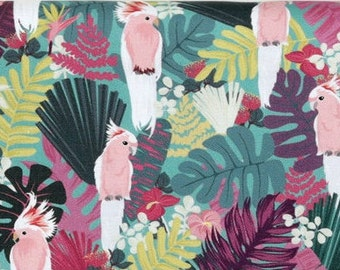 Galla Parrot, Cotton 100% fabric, by Yard