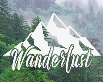 Mountain Decal, Wanderlust Decal, Adventure Decal, Nature Decal, Car/Laptop/MacBook Decal x2