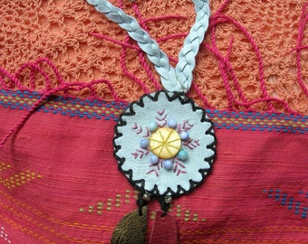 Native American Style***Leather Necklace**Handmade