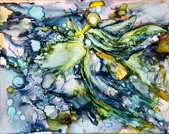 Abstract Angel Art Print of 'Angel Essence 5'