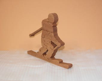 Skier Puzzle - Home Decor Puzzle - Downhill Skier - Sports Theme - Winter Sports Puzzle