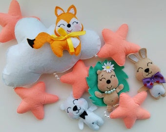 Baby mobile, Forest animals mobile, Foxy and Friends