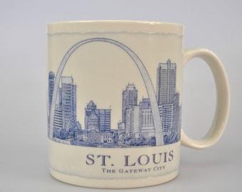 Starbucks Coffee Tea Cup Mug Architectural 2006 St Louis The Gateway City 18oz Blueprint