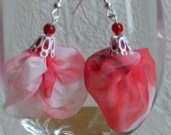 Maryline earrings coral - Made in FRANCE