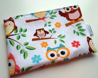 Reusable Snack & Sandwich Bag -- Owl Print Eco-Friendly