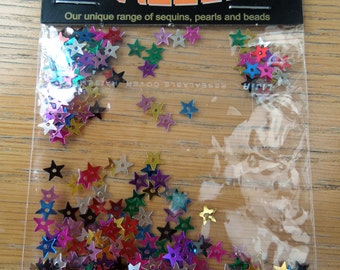 4mm star sequins in assorted colours
