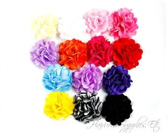 Silk Mesh Flowers Petite Puffs 2 inch - Hair Flowers, Tulle Flowers, Flowers for Headbands, Wholesale Flowers, Craft Flowers, Bulk Flowers