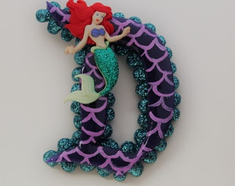 Little mermaid Ariel inspired disney d brooch pin