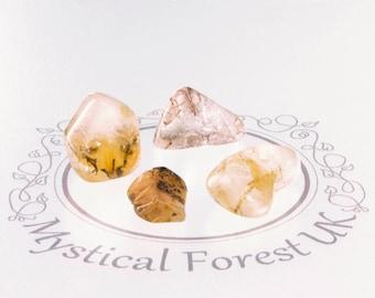 Rutilated Quartz Self Care Healing Crystals Anxiety Gemstone  April Birthstone Spiritual Gift Mental Health Inspirational mindfulness gift