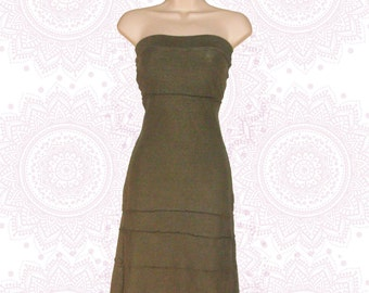 Organic cotton and hemp Tube dress- Handmade and dyed to order