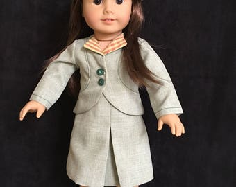 Clothes for girl dolls, 18 inch girl doll clothes, coat, jacket, doll, hat, dress