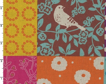 Story in Multi (Cotton Linen Canvas Fabric) by Etsuko Furuya from the Echino collection for Kokka #kokjg-90010-011-A