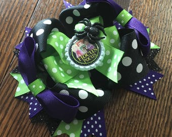 "Hocus Pocus ""Halloween"" Over The Top Hair Bow"