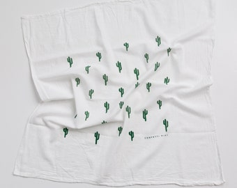 Cactus Print - Tea Towel