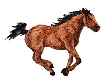 Running Horse Applique Patch (Iron on)